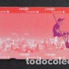 Coleccionismo Billetes de transporte: BILLETE CONMEMORATIVO 400 AÑOS QUIJOTE RENFE CERCANIAS MADRID. NUEVO SIN USAR. Lote 261259555