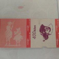 Coleccionismo Billetes de transporte: BILLETE CONMEMORATIVO 400 AÑOS QUIJOTE RENFE CERCANIAS MADRID. NUEVO SIN USAR. Lote 261260015