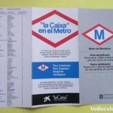 Colecionismos Bilhetes de Transporte: PLANO HISTÓRICO METRO BARCELONA 1982 CAMBIO NOMBRE ESTACIONES NUEVAS/ANTIGUAS. Lote 262837385