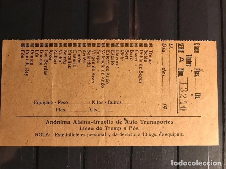 INTERESANTE Y RARO CONJUNTO DE 3 BILLETES DE TRANSPORTE (Coleccionismo - Billetes de Transporte)