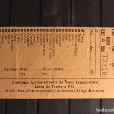 Coleccionismo Billetes de transporte: INTERESANTE Y RARO CONJUNTO DE 3 BILLETES DE TRANSPORTE. Lote 264329932