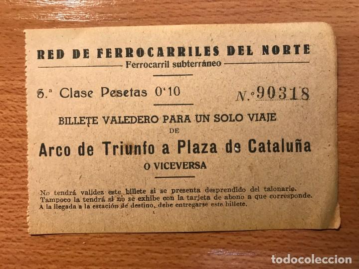 Coleccionismo Billetes de transporte: INTERESANTE Y RARO CONJUNTO DE 3 BILLETES DE TRANSPORTE - Foto 5 - 264329932