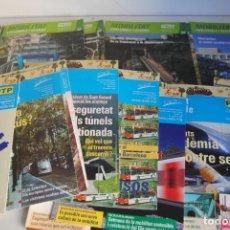 Coleccionismo Billetes de transporte: 44 REVISTAS MOBILITAT SOSTENIBLE PTP TREN AUTOBUS TRANVIA FERROCARRIL. Lote 267741409