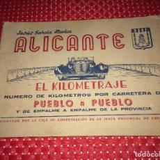 Coleccionismo Billetes de transporte: ALICANTE - EL KILOMETRAJE PUEBLO A PUEBLO - AÑOS 30 - 50 PÁGINAS. Lote 267749209