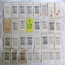 Coleccionismo Billetes de transporte: 32 BILLETES DE METRO DE MADRID. Lote 268129714