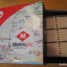Coleccionismo Billetes de transporte: METROJOC - JUEGO DE MESA METRO DE BARCELONA TMB - TRANSPORTS METROPOLITANS DE BARCELONA - TRIVIAL. Lote 268791564