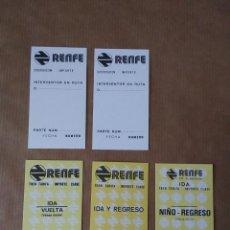 Coleccionismo Billetes de transporte: LOTE DE BILLETES DE TREN DE RENFE.. Lote 268898324