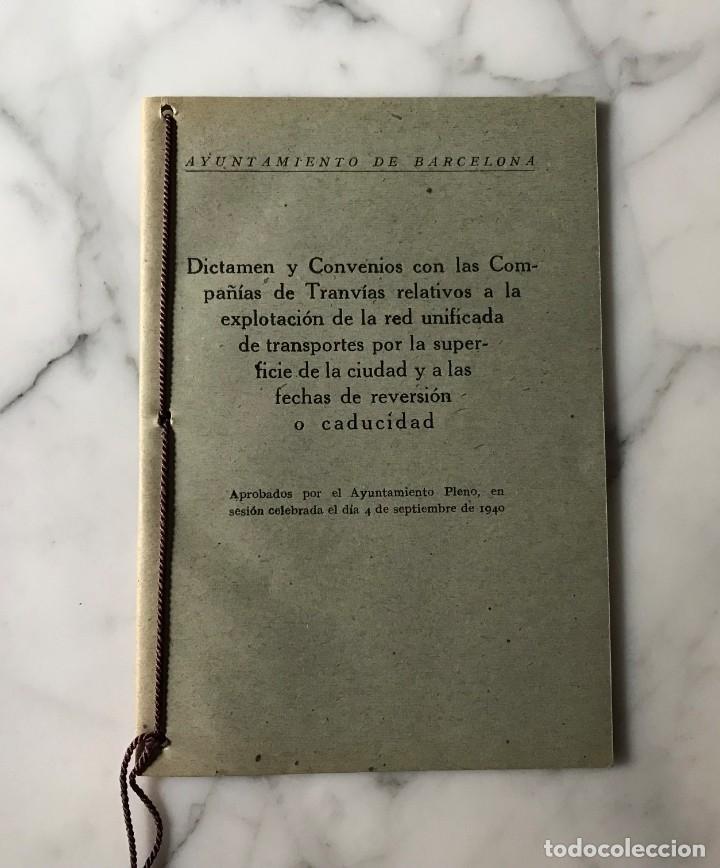 BARCELONA INTERESANTE PUBLICACIÓN DEL AYUNTAMIENTO PARA LA EXPLOTACIÓN DE LOS TRANVIAS DE BCN. (Coleccionismo - Billetes de Transporte)