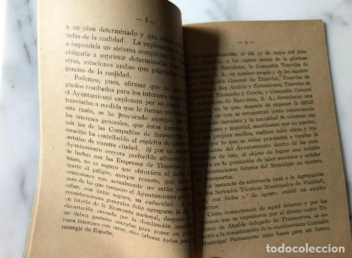 Coleccionismo Billetes de transporte: BARCELONA INTERESANTE PUBLICACIÓN DEL AYUNTAMIENTO PARA LA EXPLOTACIÓN DE LOS TRANVIAS DE BCN. - Foto 2 - 275064033