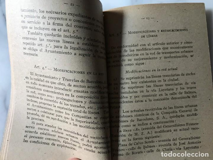 Coleccionismo Billetes de transporte: BARCELONA INTERESANTE PUBLICACIÓN DEL AYUNTAMIENTO PARA LA EXPLOTACIÓN DE LOS TRANVIAS DE BCN. - Foto 3 - 275064033