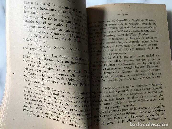 Coleccionismo Billetes de transporte: BARCELONA INTERESANTE PUBLICACIÓN DEL AYUNTAMIENTO PARA LA EXPLOTACIÓN DE LOS TRANVIAS DE BCN. - Foto 4 - 275064033