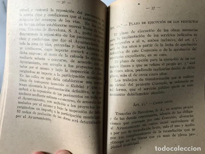 Coleccionismo Billetes de transporte: BARCELONA INTERESANTE PUBLICACIÓN DEL AYUNTAMIENTO PARA LA EXPLOTACIÓN DE LOS TRANVIAS DE BCN. - Foto 5 - 275064033