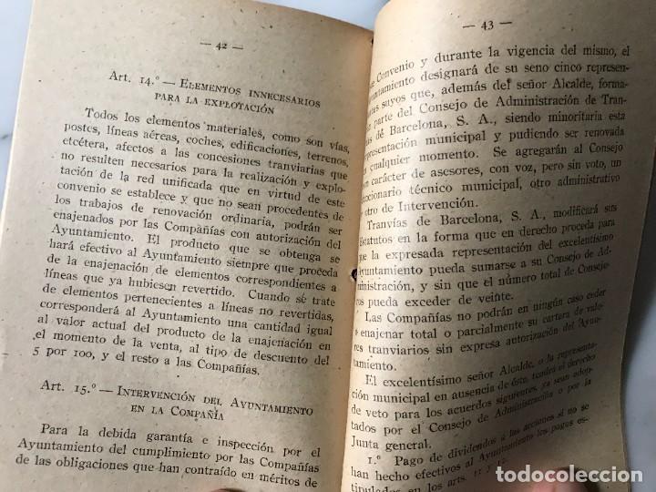 Coleccionismo Billetes de transporte: BARCELONA INTERESANTE PUBLICACIÓN DEL AYUNTAMIENTO PARA LA EXPLOTACIÓN DE LOS TRANVIAS DE BCN. - Foto 6 - 275064033
