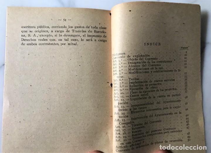 Coleccionismo Billetes de transporte: BARCELONA INTERESANTE PUBLICACIÓN DEL AYUNTAMIENTO PARA LA EXPLOTACIÓN DE LOS TRANVIAS DE BCN. - Foto 8 - 275064033