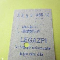 Colecionismos Bilhetes de Transporte: REFERENCIA REFMM01 METRO MADRID - MODELO CUALQUIER TRAYECTO - LEGAZPI 21. Lote 275741243