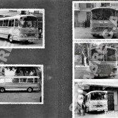 Colecionismos Bilhetes de Transporte: LOTE 5 FOTOGRAFÍAS 14 X 9 CM AUTOBÚS PEGASO LÍNEA ALBACETE - BOGARRA - PATERNA DEL MADERA AÑOS 60. Lote 276182583