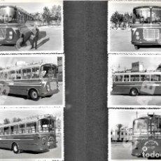Colecionismos Bilhetes de Transporte: LOTE 6 FOTOGRAFÍAS 14 X 9 CM AUTOBÚS SAVA-AUSTIN LÍNEA SILES - ALBADALEJO - VALDEPEÑAS AÑOS 60. Lote 276183323