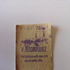 Collectionnisme Billets de transport: TICKET DE METRO DE MADRID V. RODRÍGUEZ 1 DE NOVIEMBRE DE 1968. Lote 276473963