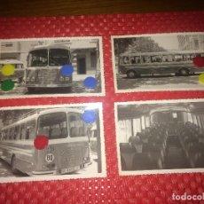 Collectionnisme Billets de transport: EMPRESA BURCHES - ALGINET ( VALENCIA ) - LOTE 4 FOTOGRAFIAS ORIGINALES - AÑO 1965 - AUTOBÚS. Lote 276582978