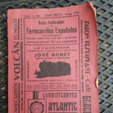 Collectionnisme Billets de transport: GUIA RICH MAYO 1936 GUIA INDICADOR FERROCARRILES CON PUBLICIDAD 16 X 23 CM PRE GUERRA CIVIL. Lote 276638903