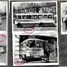 Coleccionismo Billetes de transporte: LOTE 5 FOTOGRAFÍAS 17 X 12 CM AUTOBÚS LÍNEA INFANTES - ALBADALEJO - VALDEPEÑAS AÑOS 60. Lote 276701873