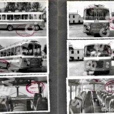 Coleccionismo Billetes de transporte: LOTE 6 FOTOGRAFÍAS 14 X 8,5 CM AUTOBÚS LÍNEA INFANTES - ALBADALEJO - VALDEPEÑAS AÑOS 60. Lote 276702603