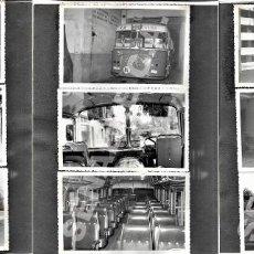 Coleccionismo Billetes de transporte: LOTE 9 FOTOGRAFÍAS 14 X 8,5 CM AUTOBÚS LÍNEA LA SOCOVINA DE SOCOVOS A ELCHE DE LA SIERRA AÑOS 60. Lote 276703793