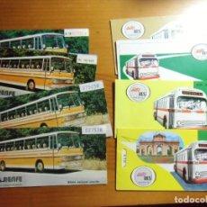 Coleccionismo Billetes de transporte: BILLETES ANTIGUOS DE AUTOBUSES.AUTO-RES Y RENFE,AÑOS 80.. Lote 276906698