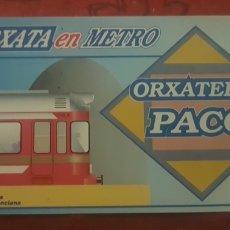 Coleccionismo Billetes de transporte: METRO VALENCIA. INVITACIÓN HORCHATA EN ALBORAYA. Lote 277090153