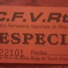 Coleccionismo Billetes de transporte: BILLETE FERROCARRIL 5 PULGADAS DE RIBARROJA. Lote 277090463