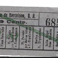 Coleccionismo Billetes de transporte: TRANVÍAS DE BARCELONA 10 CTS 68586. Lote 277663408