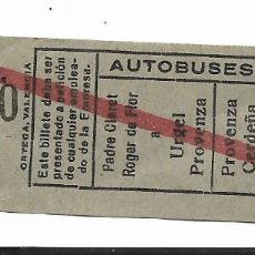 Coleccionismo Billetes de transporte: AUTOBUSES ROCA 15 CTS 07970. Lote 277663763