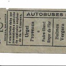 Coleccionismo Billetes de transporte: AUTOBUSES ROCA 15 CTS 21612. Lote 277663798