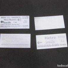 Coleccionismo Billetes de transporte: 4 BILLETES DEL METRO DE MADRID T3. Lote 279510313