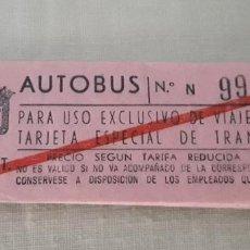 Coleccionismo Billetes de transporte: 17 BILLETES AUTOBUS MADRID EN LIBRETA CORRELATIVOS, MUY RAROS.. Lote 283793363