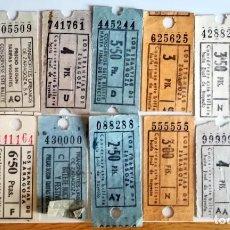 Coleccionismo Billetes de transporte: LOTE 14 BILLETES TRANVIA ZARAGOZA AÑOS 70 CON ALGUN CAPICUA. Lote 283799828