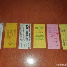 Coleccionismo Billetes de transporte: 7 BILLETES DE METRO, DE 10 VIAJES, IDA Y VUELTA, SENCILLO REDUCIDO, METRO AUTOBUS, RENFE METRO. Lote 287580648