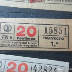 Collectionnisme Billets de transport: REF: VV-1234 - CAPICUA 15851 - AUTOBUS BARCELONA TB OBSERVE MAYUSCULAS MINUSCULAS TRAYECTO PESETAS P. Lote 288380018