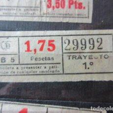 Collectionnisme Billets de transport: REF: VV-1234 CAPICUA 29992 METRO AUTOBUS BARCELONA TB OBSERVE MAYUSCULA MINUSCULA TRAYECTO PESETAS P. Lote 288386058