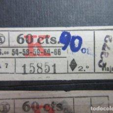 Collectionnisme Billets de transport: REF: VV-1234 CAPICUA 15851 METRO AUTOBUS BARCELONA TB OBSERVE MAYUSCULA MINUSCULA TRAYECTO PESETAS P. Lote 288387493