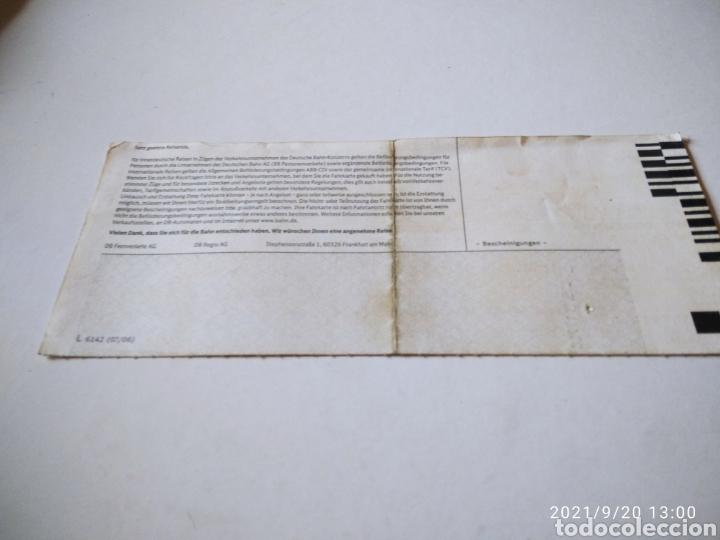 Coleccionismo Billetes de transporte: Billete de tren Alemán Bautzen-Dresden - Foto 2 - 288468688
