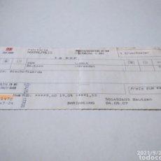 Coleccionismo Billetes de transporte: BILLETE DE TREN ALEMÁN BAUTZEN-DRESDEN. Lote 288468688