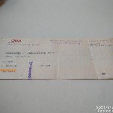 Coleccionismo Billetes de transporte: BILLETE DE TREN ALEMÁN BREGENZ-INNSBRUCK. Lote 288469413