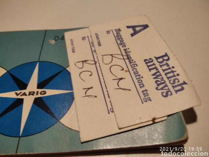 Coleccionismo Billetes de transporte: Pasaje avión British Airways, Varig varios destinos - Foto 2 - 288555203