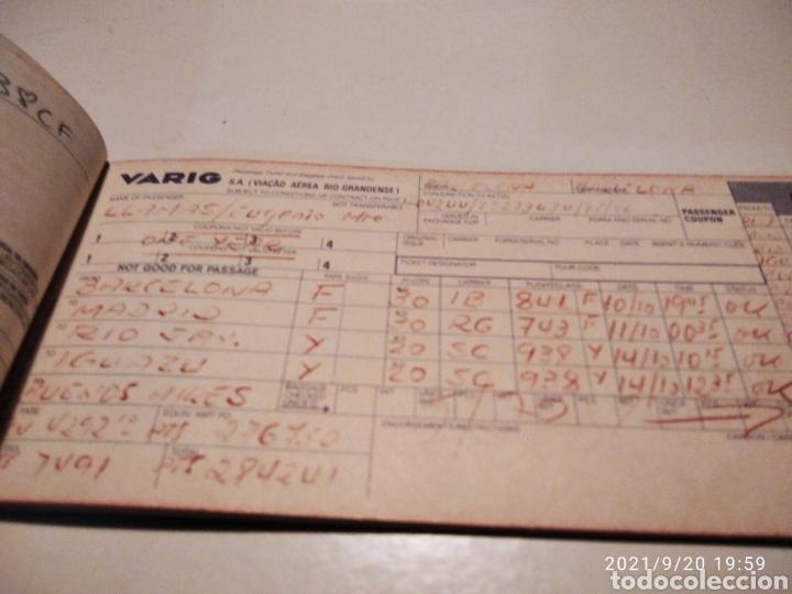 Coleccionismo Billetes de transporte: Pasaje avión British Airways, Varig varios destinos - Foto 3 - 288555203