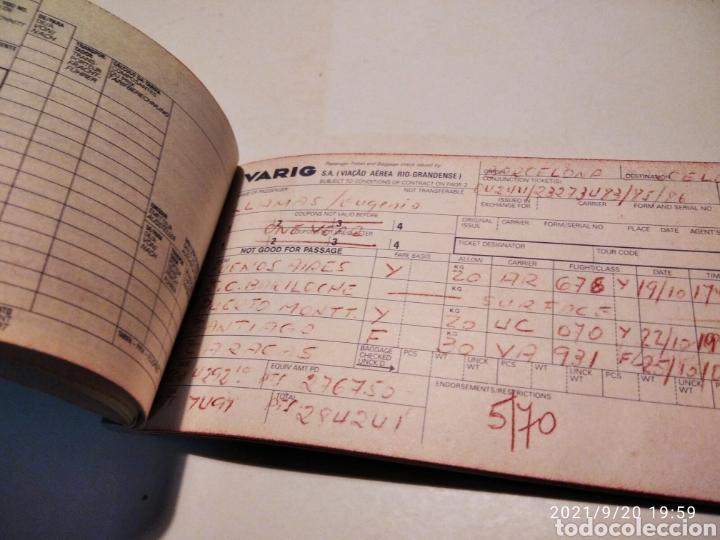Coleccionismo Billetes de transporte: Pasaje avión British Airways, Varig varios destinos - Foto 4 - 288555203