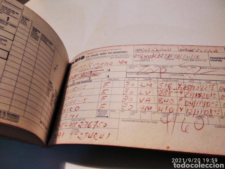 Coleccionismo Billetes de transporte: Pasaje avión British Airways, Varig varios destinos - Foto 5 - 288555203