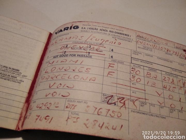 Coleccionismo Billetes de transporte: Pasaje avión British Airways, Varig varios destinos - Foto 6 - 288555203