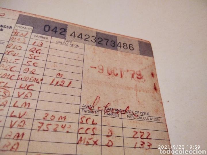 Coleccionismo Billetes de transporte: Pasaje avión British Airways, Varig varios destinos - Foto 7 - 288555203
