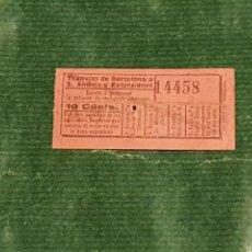 Coleccionismo Billetes de transporte: BILLETE COMPAÑIA DE TRANVIAS DE BARCELONA A SAN ANDRES Y EXTENSIONES A8. Lote 289746613